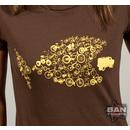 Organic Cotton Cycling T-shirt: Bike Fish (brown)