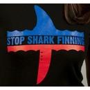 Organic Cotton T-shirt: Stop Shark Finning (black)