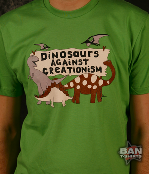 Dinosaurs Against Creationism T-shirt
