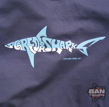 Organic Cotton T-shirt: Scared for Sharks