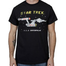 8 Bit USS Enterprise Star Trek Shirt