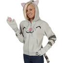 Ladies Big Bang Theory Soft Kitty Hoodie With Ears