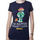 Ladies Happier Than I Look Boober Shirt