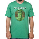Retro Green Minecraft Creeper Shirt