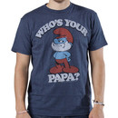 Smurf Shirt Whos Your Papa By Junk Food