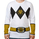White Power Ranger Long Sleeve Costume Shirt
