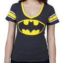 Womens Batman V-Neck Shirt