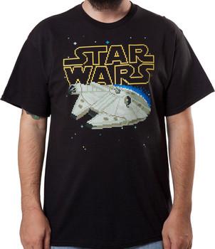 8 Bit Millenium Falcon Shirt