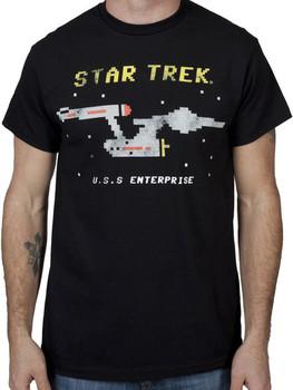 8 Bit USS Enterprise Star Trek Shirt