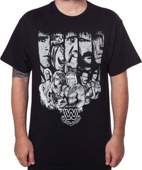 80s WWE Wrestlers T-Shirt