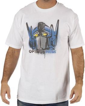 Airbrushed Optimus Prime Transformers T-Shirt