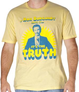 Anchorman Ron Burgundy It's The Truth Shirt