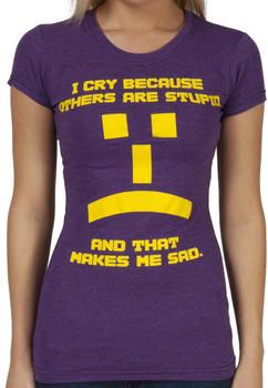 Big Bang Theory Womens Sheldon I Cry Shirt