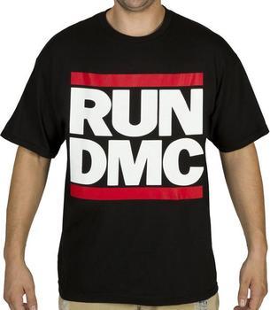 Black RUN D.M.C. Logo T-Shirt
