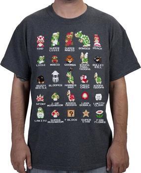 Cast of Super Mario Bros Shirt