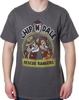 Chip n Dale Rescue Rangers Logo Mens T-Shirt