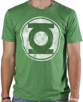 Distressed Green Lantern Logo T-Shirt by Junk Food