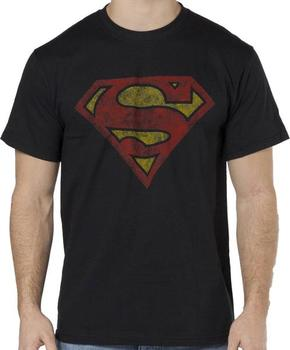 Distressed Superman Logo Shirt