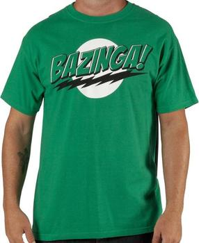 Green Caped Bazinga T-Shirt