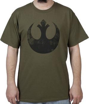 Green Distressed Rebel Star Wars T-Shirt
