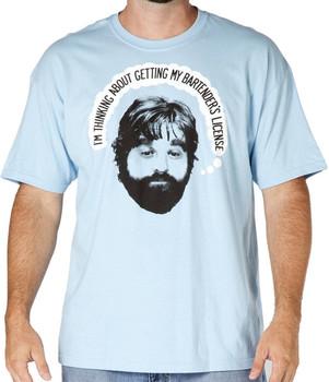 Hangover Alan Bartenders License Shirt