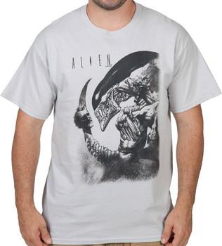 Impaled Head Alien Shirt