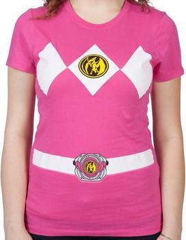Ladies Pink Ranger Costume Shirt