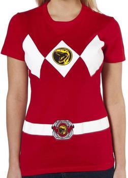 Ladies Red Ranger Costume Shirt