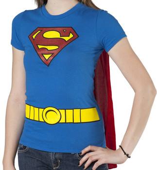 Ladies Superman Caped Costume Shirt