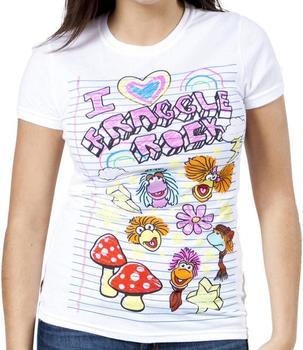 Notebook Doodle Fraggle Rock Shirt