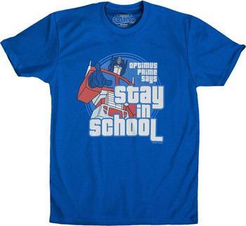 Optimus Prime Stay In School T-Shirt