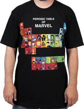 Periodic Table of Marvel Comics Shirt