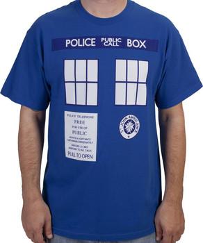 Phone Box Doctor Who Shirt