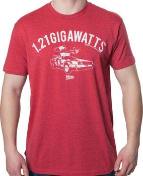 Red 1.21 Gigawatts T-Shirt