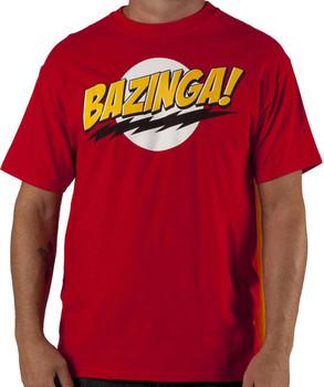 Red Bazinga Caped T-Shirt