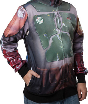 Sublimated Boba Fett Costume Hoodie