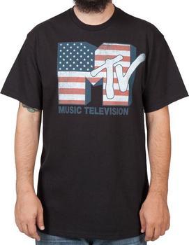 US Flag MTV T-Shirt