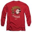 A Christmas Story Long Sleeve Shirt Oh Fudge Red Tee T-Shirt
