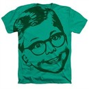 A Christmas Story Shirt Big Head Ralphie 2 Heather Kelly Green T-Shirt