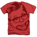 A Christmas Story Shirt Big Head Ralphie Heather Red T-Shirt