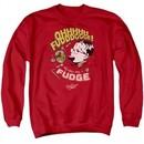 A Christmas Story Sweatshirt Oh Fudge Adult Red Sweat Shirt