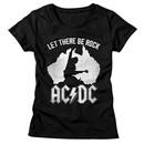 AC/DC Shirt Juniors Let There Be Rock Black T-Shirt