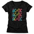 AC/DC Shirt Juniors Multicolor Band Logo Black T-Shirt