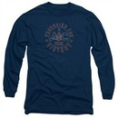 AC Delco Long Sleeve Shirt Spark Plugs Victory Navy Blue Tee T-Shirt
