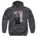 ACDC Kids Hoodie Dirty Deeds Charcoal Youth Hoody