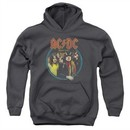 ACDC Kids Hoodie Highway To Hell Charcoal Youth Hoody