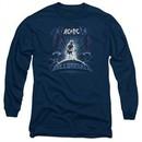 ACDC Long Sleeve Shirt Ball Breaker Navy Tee T-Shirt