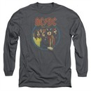 ACDC Long Sleeve Shirt Highway To Hell Charcoal Tee T-Shirt