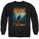 ACDC Sweatshirt Let There Be Rock Adult Black Sweat Shirt