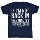 Ace Ventura Shirt 5 Minutes Adult Navy Tee T-Shirt
